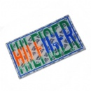 colorful pressed 2d badge